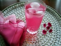 A glass of Rose Sherbet
