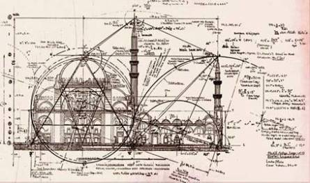 Technical Plans of Sehzadebasi Mosque